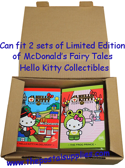 Size 2 mailing box can fit 2 sets of limited edition mcdonalds hello kitty fairy