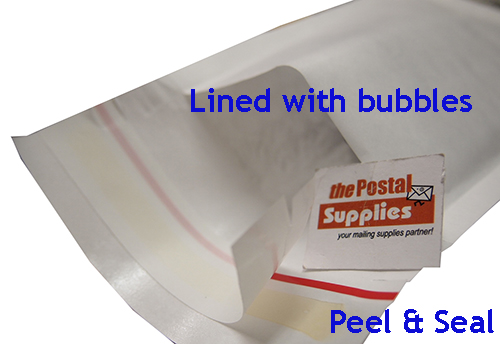 Peel and Seal C5 Kraft White Bubble Mailer