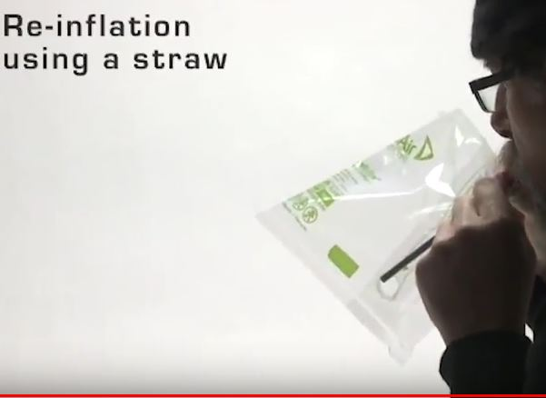 Blow through the straw