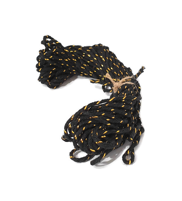 Baker's Twine cotton string Black/Gold