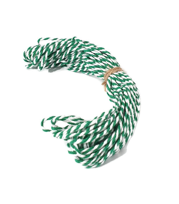 Baker's Twine cotton string Green/White
