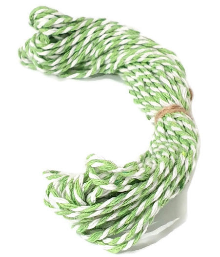 Baker's Twine cotton string Lime/White