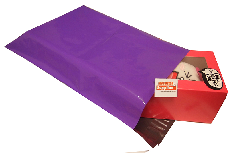 Purple Poly Mailers in B4 size