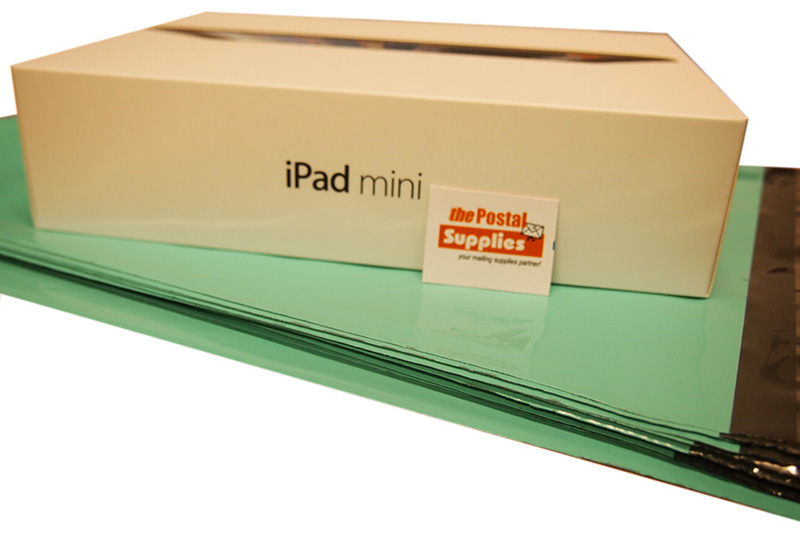 Size M Mailing Bag can fit iPad Mini in Box