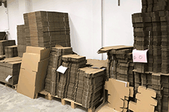 Ready stock of postal carton and postal mailing boxes